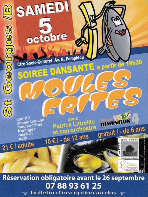 SOIREE MOULES FRITES : REPAS-DANSANT avec Patrice Latreille et son orchestre / Orchestre Dimension 4