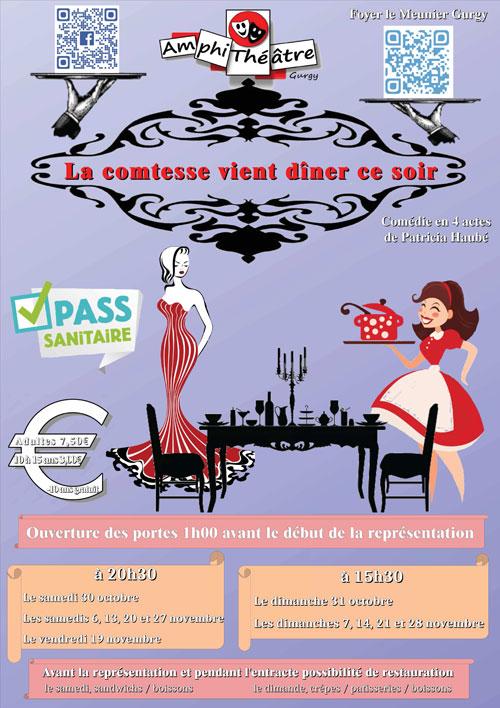 Theatre La Comtesse vient diner ce soir Comedie Amphitheatre Gurgy oct nov 2021.jpg