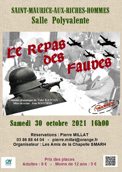 Theatre Sans Nom de Maillot Le Repas des Fauves Saint Maurice aux Riches Hommes 30 10 2021.jpg