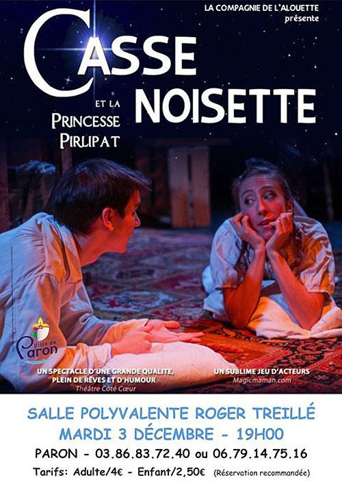 SPECTACLE : CASSE-NOISETTE ET LA PRINCESSE PIRLIPAT par la  Compagnie de l'Alouette