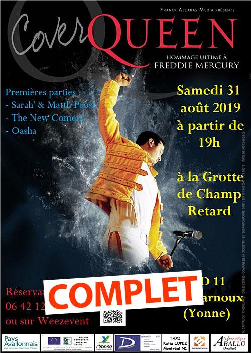 COMPLET // CONCERT COVER QUEEN / HOMMAGE ULTIME A FREDDY MERCURY / 1ère partie avec Sarah' & Matth Prost + The News Comers + Oasha