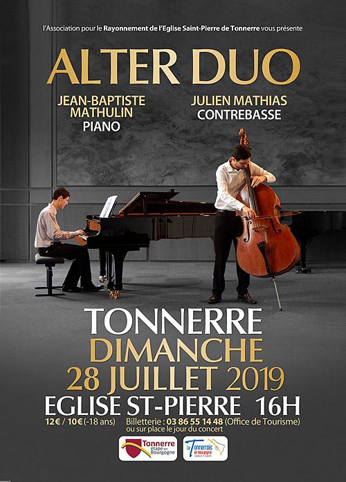 CONCERT avec ALTER DUO (musique classique) par Jean-Baptiste (piano) et Julien Mathias (contrebasse)