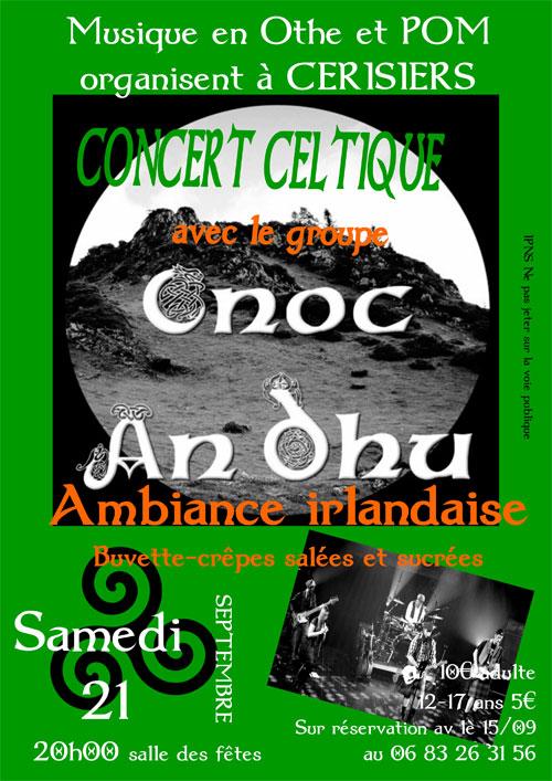CONCERT CELTIQUE avec le groupe CNOC AN 'DHU  / Ambiance irlandaise