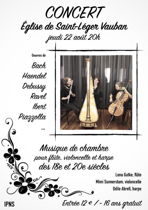 Musique de chambre pour flûte, violoncelle et harpe des 18e et 20e siècles / Lena Gutke, flûte / Mimi Sunnerstam, violoncelle / Odile Abrell, harpe