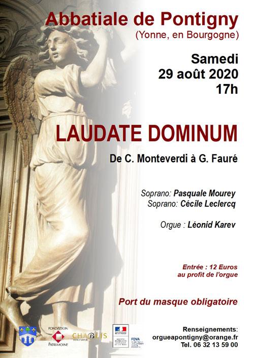 CONCERT : LAUDADE DOMINUM (musique classique / oeuvres de Monteverdi en passant par Schutz, Purcell, Haendel, Mozart et Fauré)