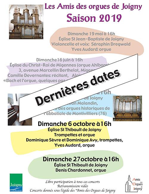 CONCERT TROMPETTES ET ORGUE (musique classique) avec Dominique AVY et Dominique SEVRE (trompettes) et Yves AUDARD (orgue)