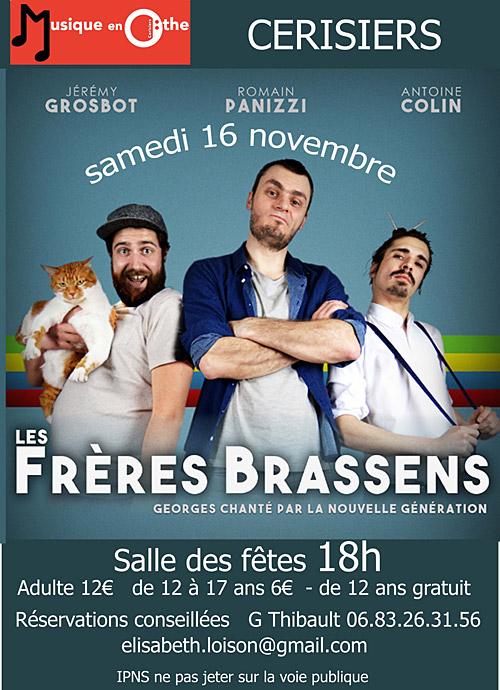 CONCERT : LES FRERES BRASSENS revisitent le répertoire de Brassens ... avec humour ! (chanson française)