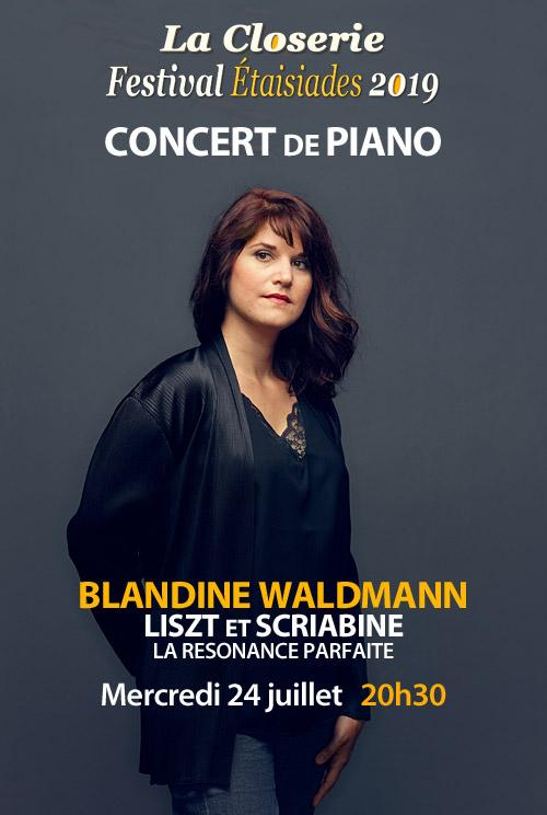 CONCERT de PIANO par Blandine Waldmann : Liszt et Scriabine « la résonance parfaite » / du Carnegie Hall de New York à La Closerie