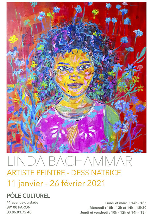 Exposition de Linda Bachammar (artiste peintre - dessinatrice) du 11 janvier au 26 février 2021