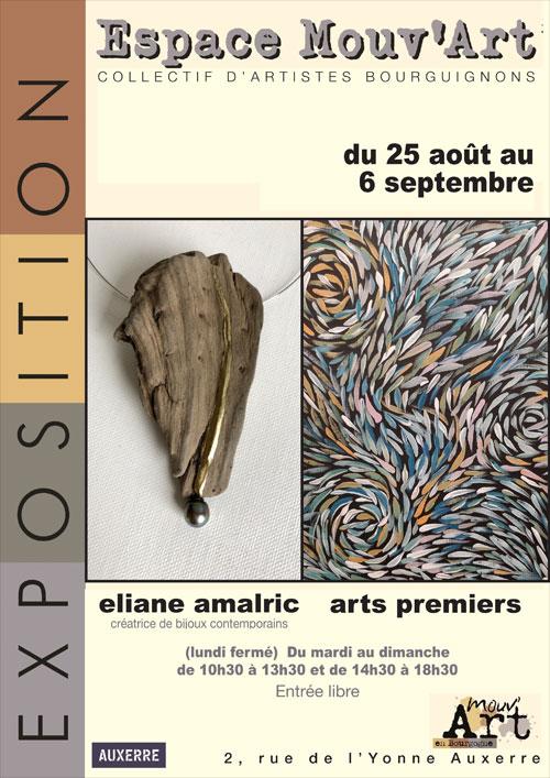 EXPOSITION d'Eliane AMALRIC (objets décoratifs, mobilier en papier massif et bijoux contemporains)