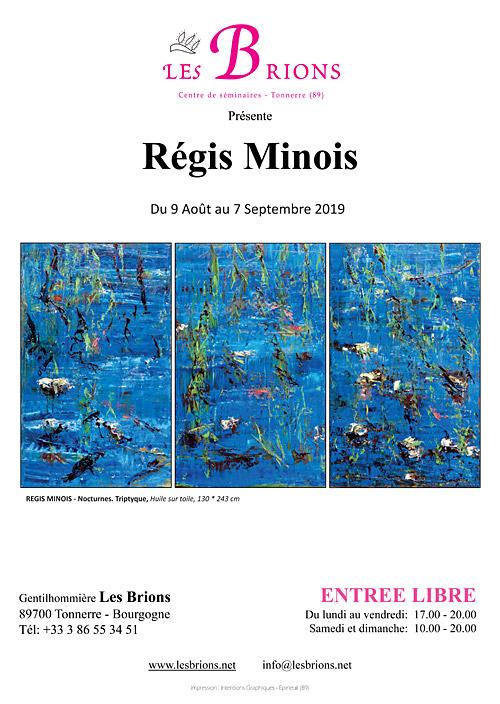 EXPOSITION : TABLEAUX DE REGIS MINOIS (peintre français du Mans installé dans le Tarn / Renommée internationale: Chine, Japon, etc. / représenté dans 5 galeries d'art, en France / Style
