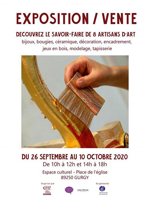 EXPOSITION / VENTE : Découvrez le savoir-faire de 8 artisans d'art