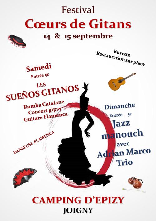 FESTIVAL COEUR DE GITANS : Ambiance DJ, Rumba Catalane, Concert Gipsy, danseuse Flamenca, Guitare Flamenca