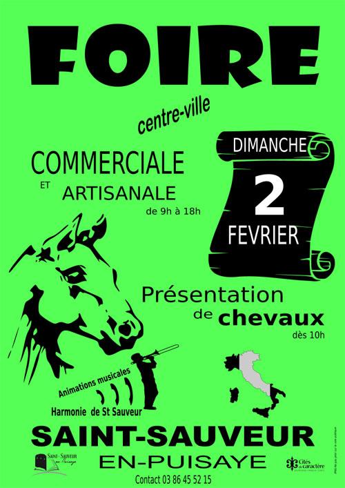 FOIRE COMMERCIALE ET ARTISANALE + Présentation de chevaux + animations musicales (harmonie, artiste déambulateur...)