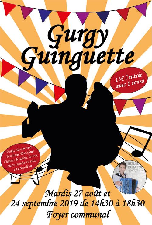 GURGY GUINGUETTE animé par Benjamin Durafour (accordéon / danses de salon, latino, disco, samba et salsa)