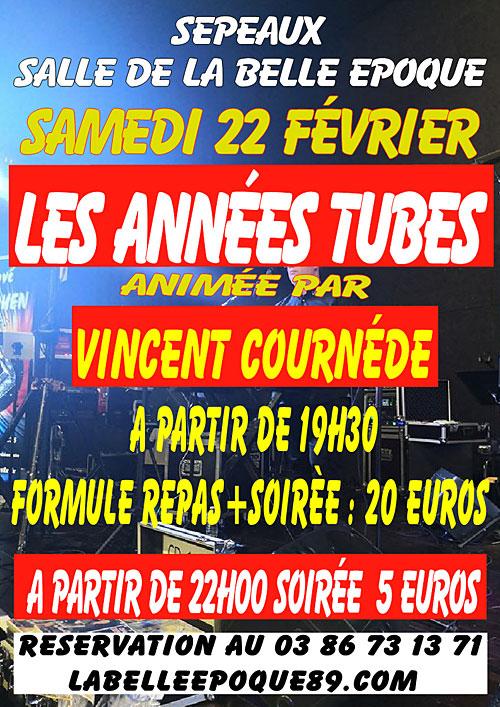 SOIREE LES ANNEES TUBES animée par VINCENT COURNEDE + REPAS