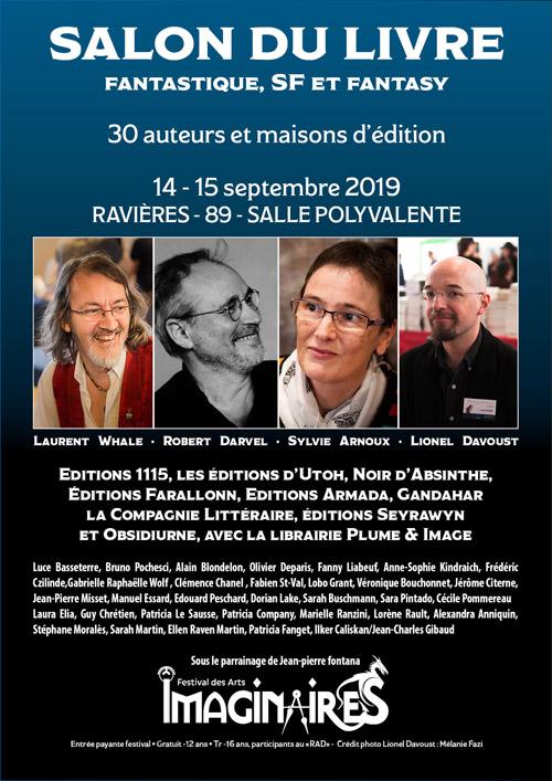 FESTIVAL DES IMAGINAIRES DU TONNERROIS : SALON DU LIVRE FANTASTIQUE, SF et FANTASY avec 30 auteurs et maisons d'édition (sous le parrainage de Jean-Pierre Fontana)