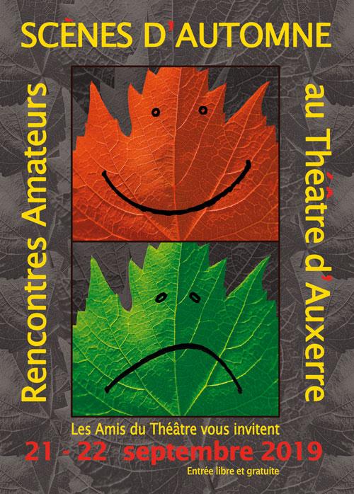 SCENES D'AUTOMNE : Rencontres de théâtre amateur (21 et 22 septembre / 7ème édition avec 8 compagnies de théâtre et 9 spectacles)
