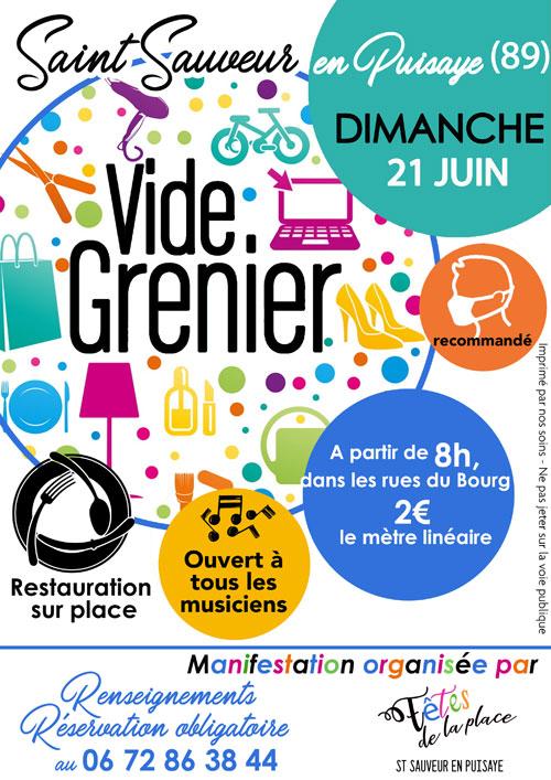 BROCANTE VIDE-GRENIERS (+ scène et rue ouvertes à tous les musiciens)