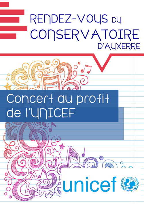 CONCERT : Les rendez-vous du Conservatoire d'Auxerre / On connaît la chanson / au profit de l'Unicef, à l'occasion du 30e anniversaire de la Convention Internationale des Droits de l'Enfant.