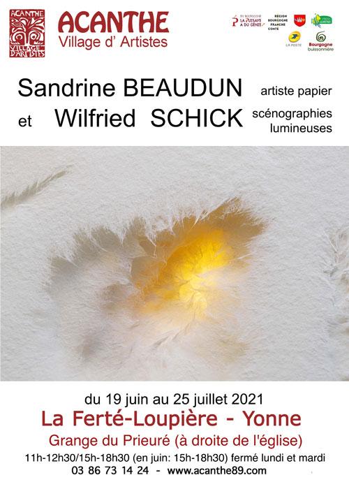 Exposition Sandrine Beaudun Wilfried Schick Acanthe La Ferte Loupiere juin juillet 2021.jpg