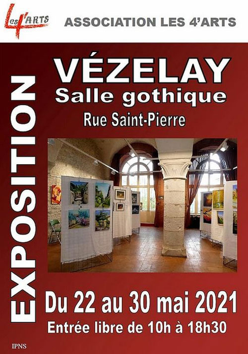 Exposition association LES 4 ARTS peintures sculptures vezelay 22au30mai2021.jpg