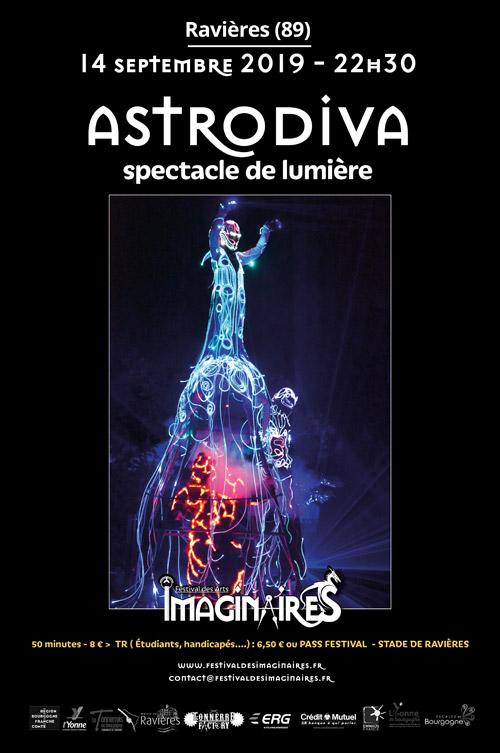 FESTIVAL DES IMAGINAIRES DU TONNERROIS : ASTRODIVA (spectacle de lumière / ballade céleste accompagnée de personnages magiques)