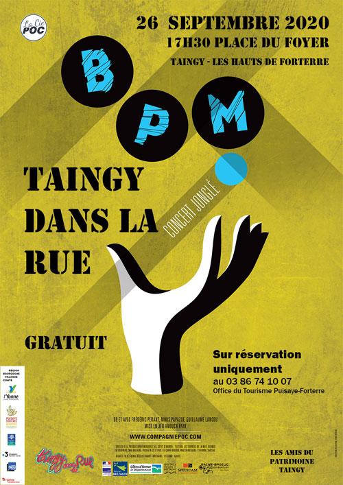 TAINGY DANS LA RUE (Petit format) : Spectacle BPM