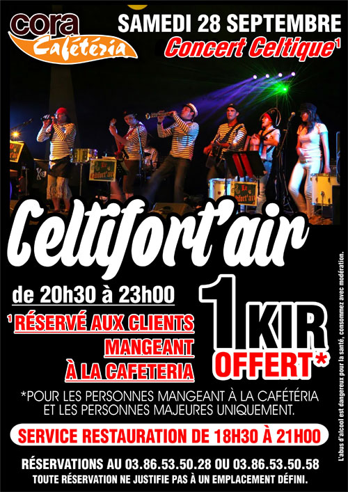 CONCERT CELTIQUE avec CELTIFORT'AIR