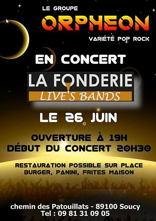 APERO-CONCERT (live's bands)  avec ORPHÉON (variété pop-rock)