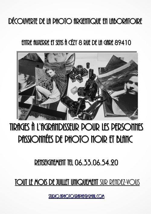 INITIATION A LA PHOTOGRAPHIE ARGENTIQUE NOIR ET BLANC EN LABORATOIRE (Venez découvrir comment développer un tirage noir et blanc à l'agrandisseur)