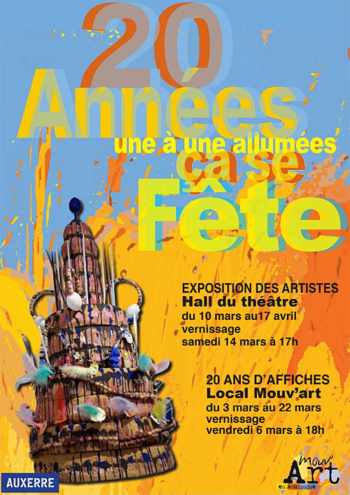 20 ANS DE MOUV'ART ÇA SE FETE ! Oeuvres en grands formats créées par 37 artistes du collectif (exposition du 10 mars au 17 avril)