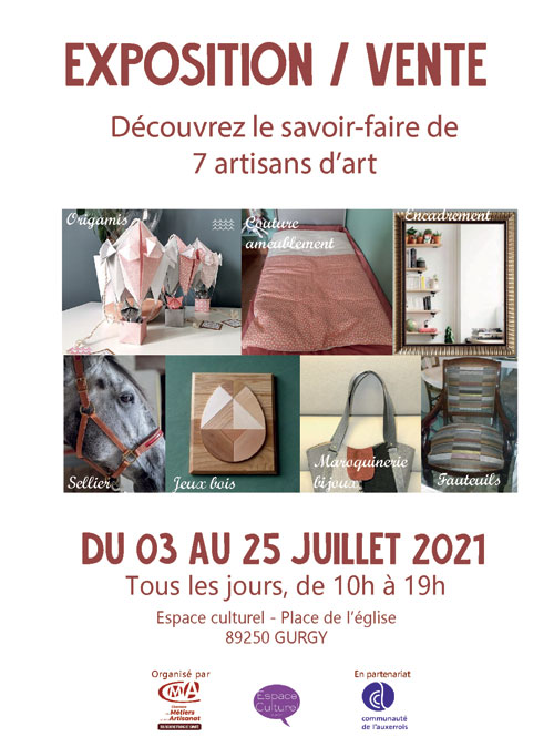 expo vente savoir faire artisans d art espace culturel gurgy juillet2021.jpg
