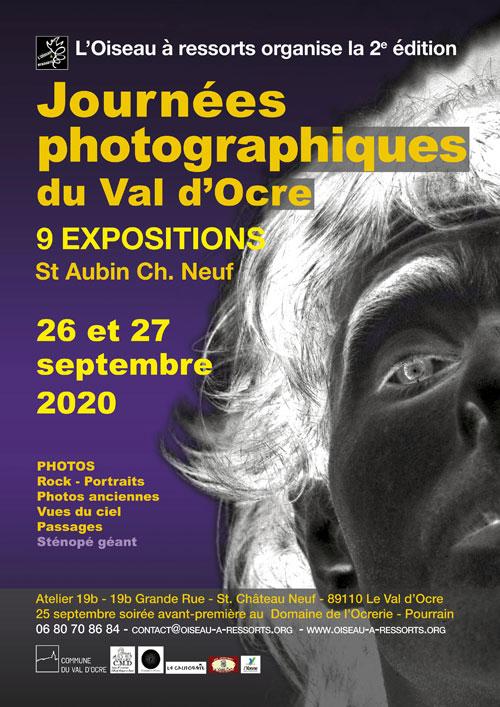 2ème édition des JOURNEES PHOTOGRAPHIQUES DU VAL D'OCRE (9 expositions : Rock, portraits, photos anciennes, vues du ciel, passages, sténopé...)