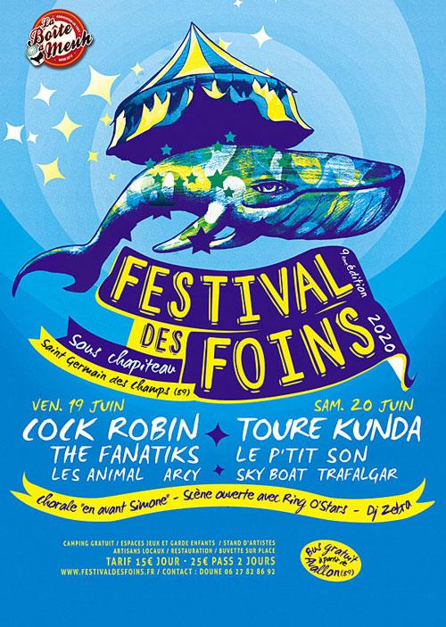 FESTIVAL DES FOINS (9ème édition) : CONCERTS avec COCK ROBIN + la Chorale
