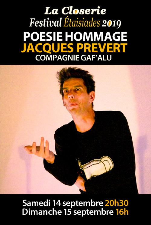 POESIE HOMMAGE : La Compagnie Gaf'Alu présente JACQUES PREVERT (création)