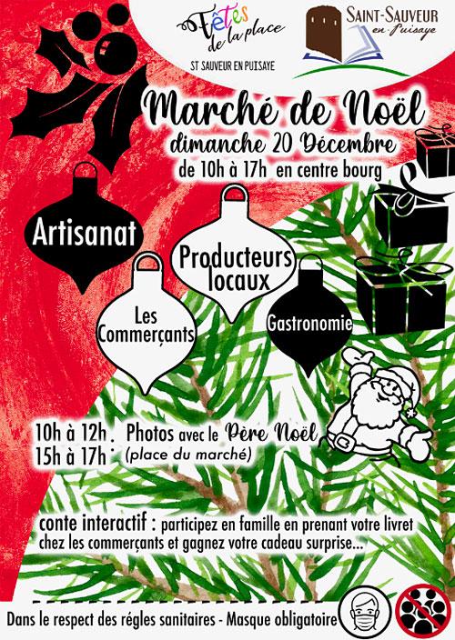 MARCHE DE NOEL : Artisanat, producteurs locaux, commerçants, gastronomie) + Photos avec le Père Noël + Conte interactif avec cadeau surprise