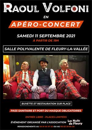 Apéro-Concert des Nuits de Fleury avec Raoul Volfoni (pop-rock)