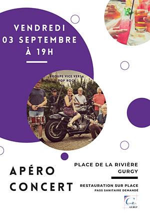 Apéro-concert avec Vice Versa (Pop rock des années 60 à aujourd'hui)