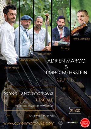 Concert unique avec Adrien Marco et Timbo Mehrstein Quintet (jazz manouche, swing)