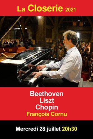 Concert de musique classique avec François Cornu (piano / oeuvres de Beethoven, Liszt, Chopin)