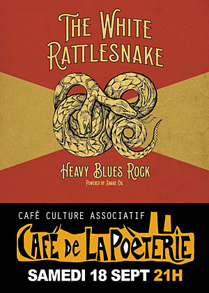 Concert avec The White Rattlesnake (blues rock)