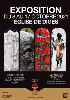 Vernissage de l'exposition de peintures et sculptures d'Ugo Guttadoro, Yvon Tonnerre, Sylvie Chameroy et Naïma