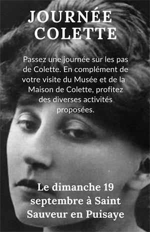 Journées Européennes du Patrimoine :  Journée Colette (passez une journée sur les pas de Colette en complément de la visite du Musée et de la maison Colette avec de nombreuses activités)