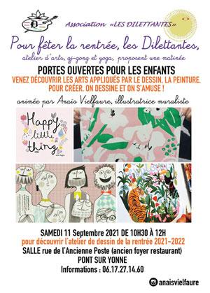 Portes ouvertes : Atelier de dessin ouvert aux enfants avec l'association Les Dilettantes et Anaïs Vielfaure (illustratrice muraliste)