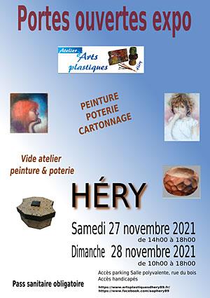 Les Ateliers d'Arts Plastiques d'Héry ouvrent leurs portes (peintures, poterie et cartonnage)