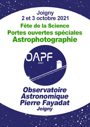 Fête de la Science et portes ouvertes spéciales Astrophotographie (visite, mini-conférences, démonstrations et manipulations des outils matériels et logiciels)