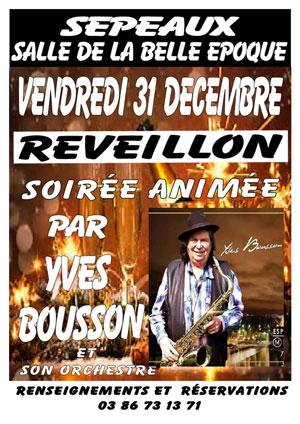 Réveillon de la Saint-Sylvestre : soirée animée par Yves Bousson et son orchestre