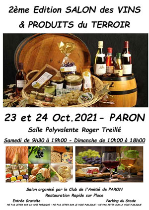 2ème Salon des Vins et Produits du Terroir (23 et 24 octobre)