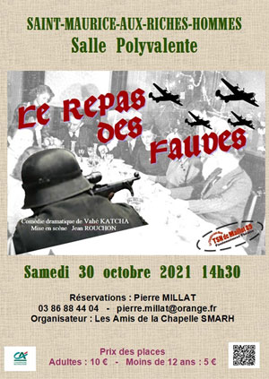 Théâtre : Le Repas des Fauves par le Théâtre Sans Nom de Maillot (comédie dramatique de Vahé Katcha / Mise en scène : Jean Rouchon)